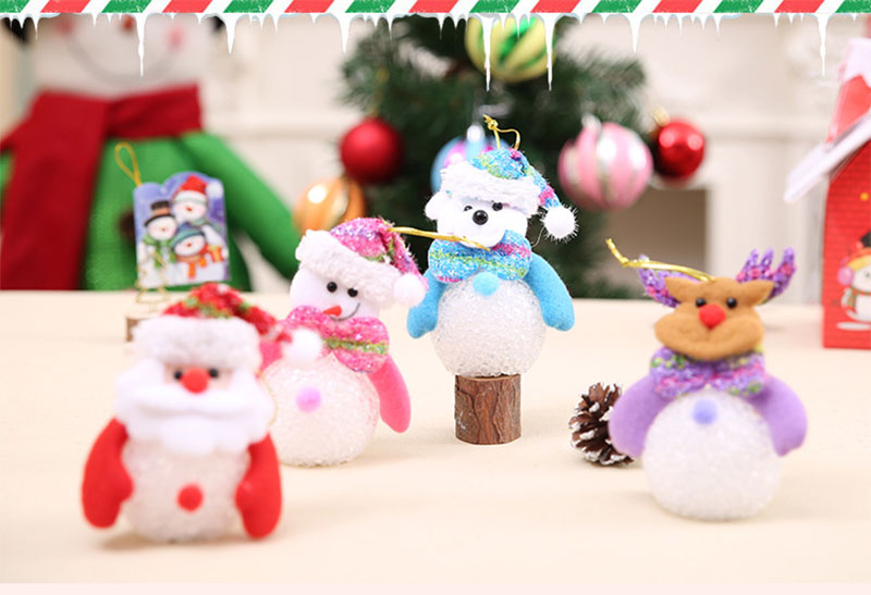 New Year Christmas Decoration for Home accessories Glowing EVA Snowman Nightlight Snowman Christmas Tree gifts Navidad Natal (16)
