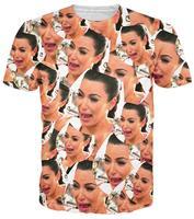 New Arrive Men Women S Funny Graphic Tee Shirts 3D Print Kim Kardashian Short Sleeve Novelty