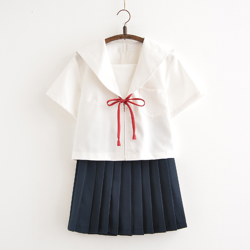 Japan Sailor Suit Costumes Becautiful Girls/Women Student School Uniforms JK Top+Skirts+Tie Sets