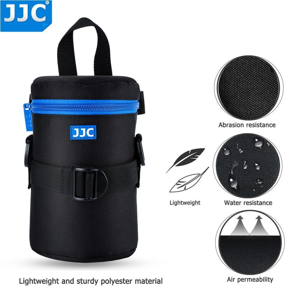 JJC Deluxe DSLR Camera Lens Pouch Soft JBL Xtreme Waterproof Bag Neoprene Case SLR Photography Belt for Olympus Canon Sony цена