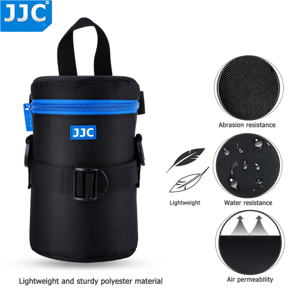 JJC Deluxe DSLR Camera Lens Pouch Soft JBL Xtreme Waterproof Bag Neoprene Case SLR Photography Belt for Olympus Canon Sony