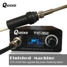 Быстрый нагрев T12 паяльная станция электронный сварочный Утюг новая версия STC T12 OLED цифровой паяльник T12-952 QUICKO