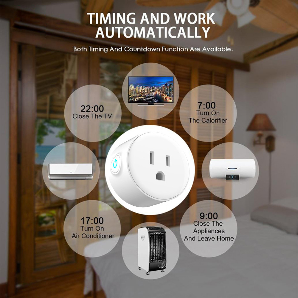 Image 4 - Smart Charger socket for US Type WiFi Socket Remote Control with Alexa,Timing on/off The PowerGoogle Home Electric Mini Socket-in Mobile Phone Chargers from Cellphones & Telecommunications
