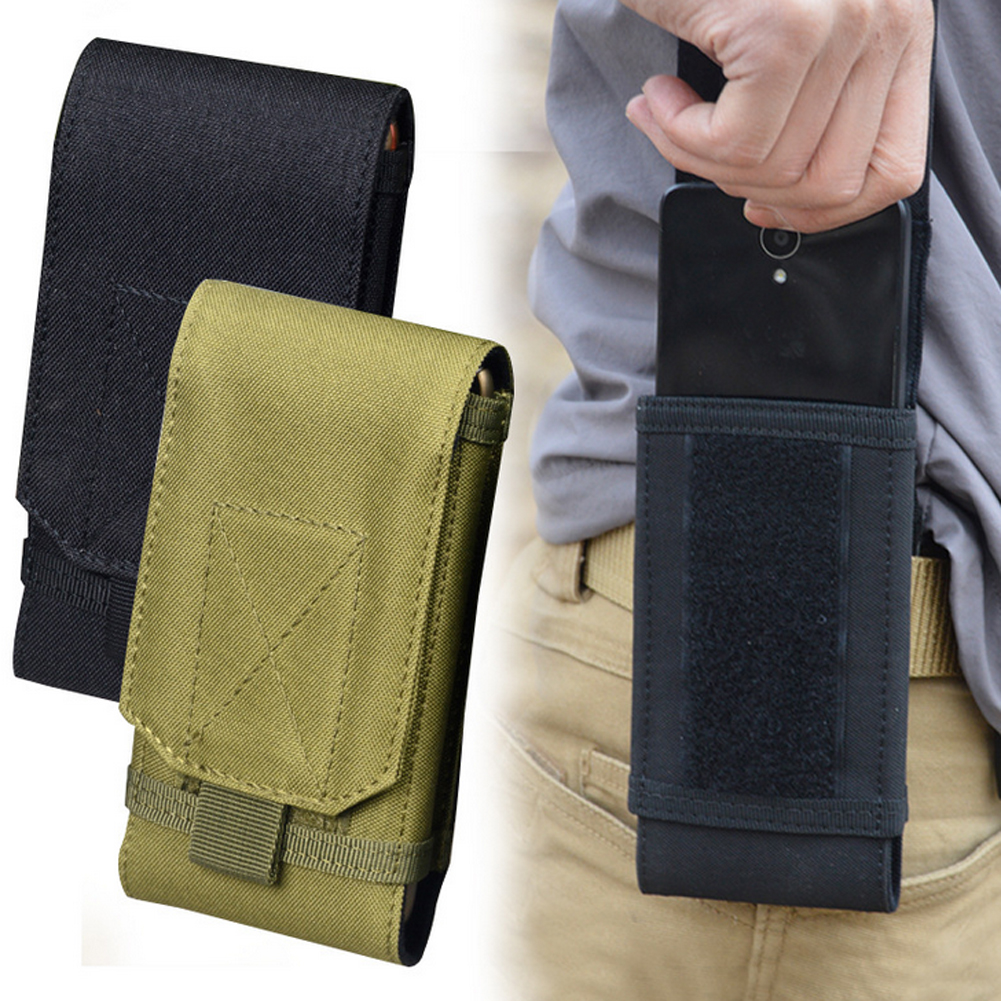Fashion Men Tactical Molle Pouch Belt Waist Bag Fanny Pack Purse Hiking Sports Bum Mini Two Size Flexible Black Army Green
