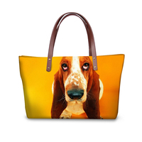 Colorful Animal Dog Print Women Top handle Bags Luxury Designer Tote Cross body Bags for Female Big Bolsas Feminina