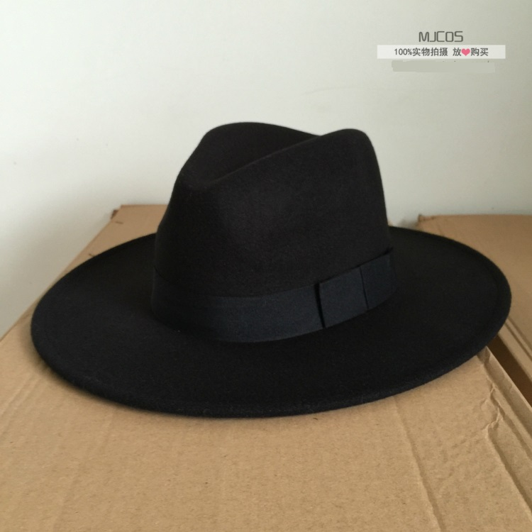 3642f6e4385f3 Michael Jackson Cosplay Hats MJ Cos Adult Accessories Billie Jean Smooth  Criminal Dangerous Woolen Hat White Black Red Colors-in Boys Costume  Accessories ...
