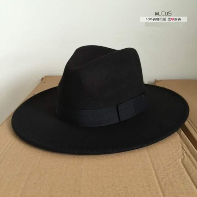 c207f363cc1 placeholder Michael Jackson Cosplay Hats MJ Cos Adult Accessories Billie  Jean Smooth Criminal Dangerous Woolen Hat White