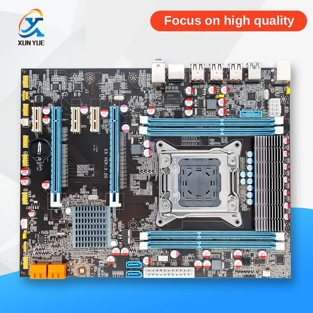 OEM 100% новый X79 E5 3.2 г рабочего Материнская плата X79 LGA 2011 для I7 E5-V1 E5-V2 DDR3/ecc 64 г 2 * PCI-E SATA3 USB3.0 все, atx