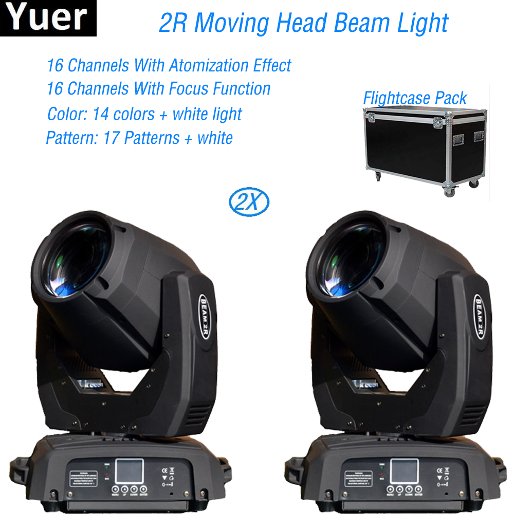 Flightcase Pack 2Pcs/Lot LED Moving Head 200W Beam DMX Stage Light With ZOOM For DJ Disco KTV Professional DJ Equipment chauvet dj jam pack diamond