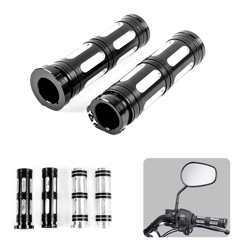 Universal Motorcycle 1.25'' Rubber Hand Grips Handle Bar Handlebar Grip Rubber For Harley Sportster Touring Dyna Softail Custom