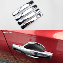 Car ABS Chrome handle Protective Cover Door Handle Outer Bowls Trim For Nissan Qashqai J10 J11 2008 2011 2012 2013 2014 2015