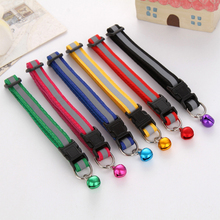 Sale Cute Dog Collar Buckle Bell Strap Adjustable strap Night Glossy Reflective Safety Pet