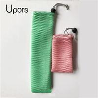 UPORS 50PCS Straw Pouch Cutlery Spoon storage Bag Drinking Straw Bag Chopsticks Spoon Bag for Wholesale