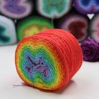 New beautiful 220g High Quality Space Dye Elegant Acrylic Cotton Rainbow Cake Yarn For Knitting Fancy Crafts Crochet Yarn,Z4857