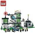 Building Blocks action figure ENLIGHTEN 466Pcs City Police Station 3D Block Assembling Bricks educational toys lepin compatible