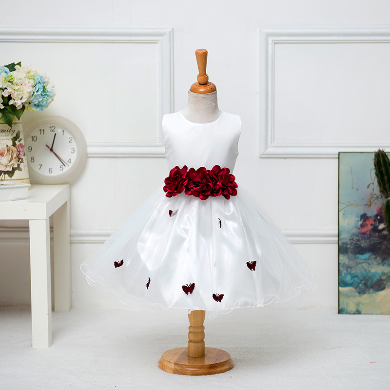 2 8Y Christmas girls flower dress butterfly princess for party ...