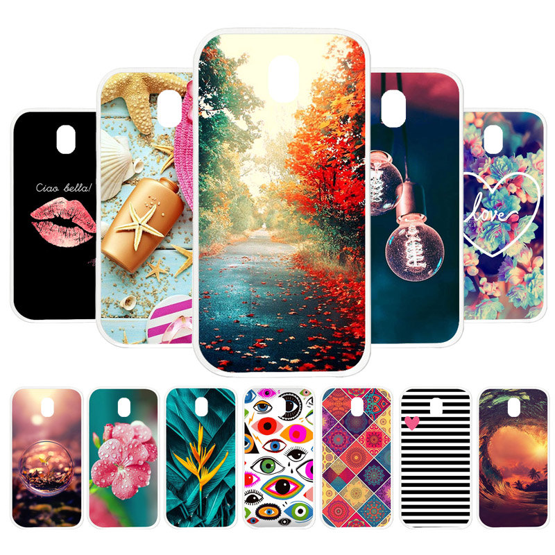 3D DIY Case For <font><b>Samsung</b></font> Galaxy J5 2017 Case Silicone Flamingo Painted Cover For <font><b>Samsung</b></font> J5 Pro J520 J530 Cases Back Cover Coque image