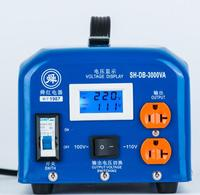 Быстрая доставка SH DB 3000VA 220 В до 110 В 3000 Вт контроля температуры Шаг вниз Напряжение конвертер трансформатор преобразует медной катушки