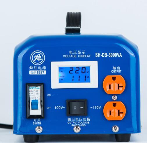 Fast Shipping SH-DB-3000VA 220v to 110v 3000W temperature control Step Down Voltage Converter Transformer Converts copper coil 1pcs lot sh b17 50w 220v to 110v 110v to 220v