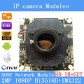 "IPC 1080P 1920 x 1080 1/2.8"" CMOS  Hi3516D+SONY IMX322  CCTV IP camera module board + HD IR-CUT dual-filter switch"