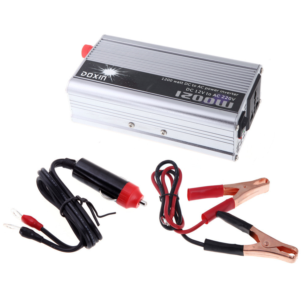 12v 220v 1200w portable removable mobile inverter for car use battery charger