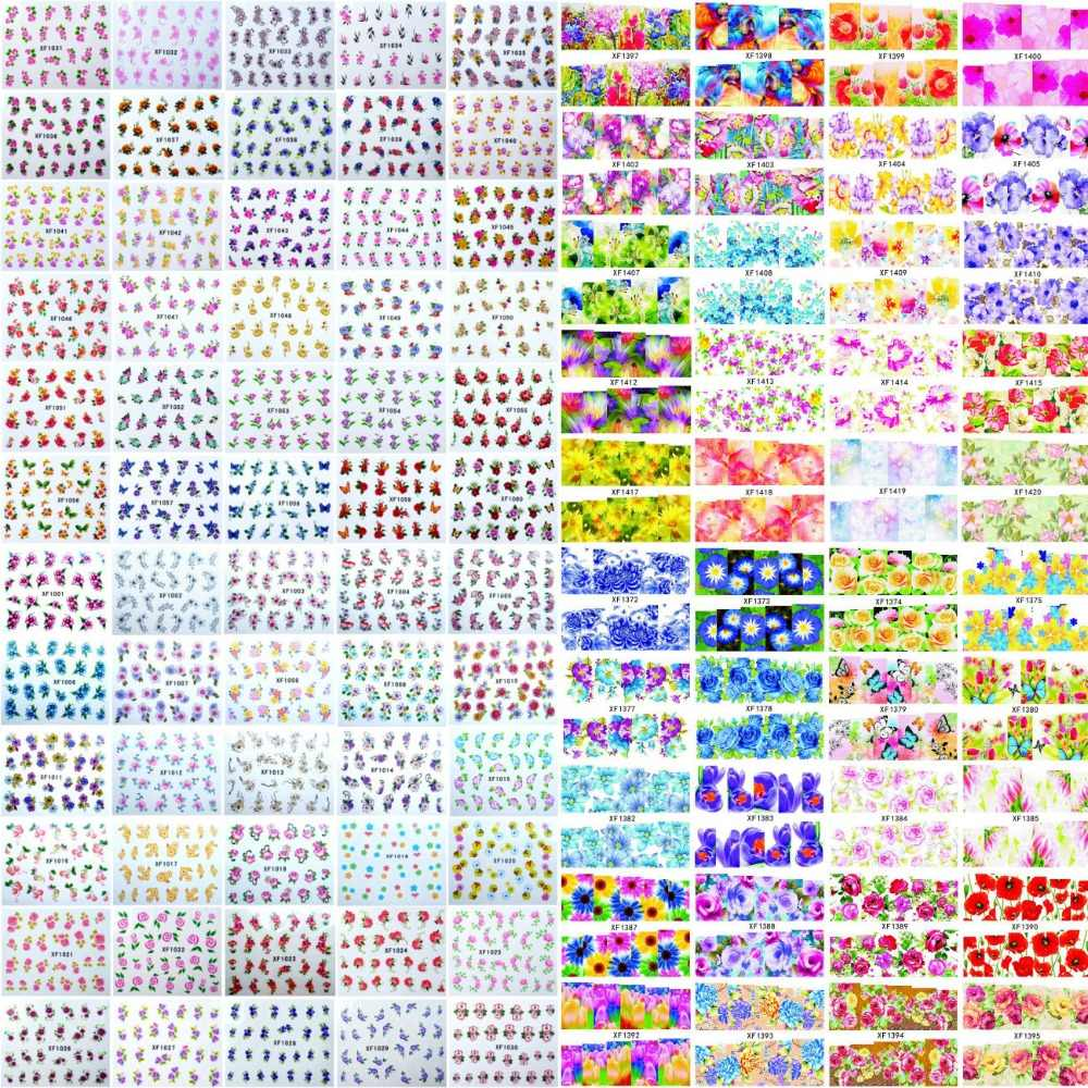 600 Designs Watermark Flower Leopard Animal Etc Stickers Nail Art Water Transfer Tips Decals Beauty Temporary Tattoos Tools