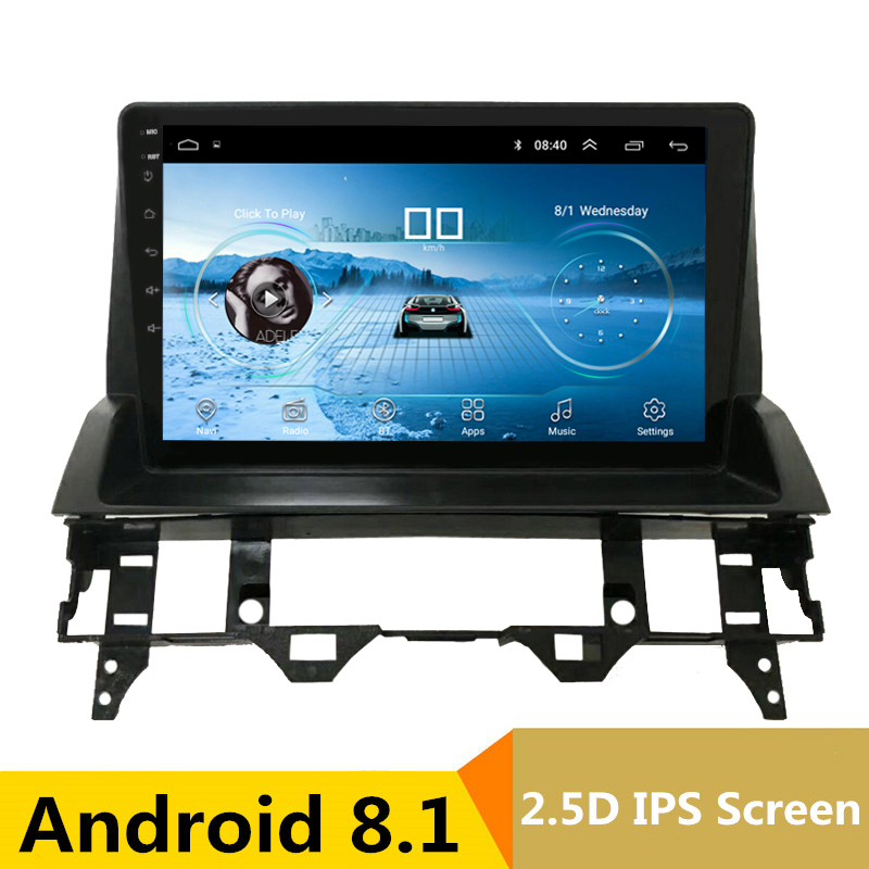 9 2.5D IPS Android 8.1 Car DVD Multimedia Player GPS for Mazda 6 2002 2006 2007 2008 2009 audio car radio stereo navigation