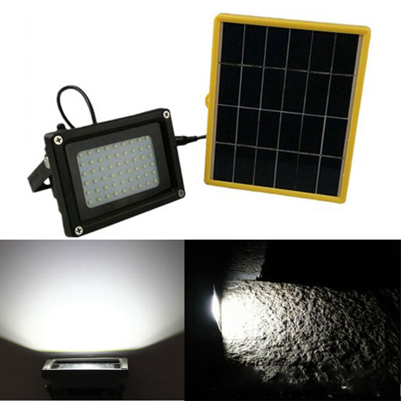 cheap High Quality Solar Powered 54 LED Dusk-to-Dawn Sensor Waterproof Outdoor Security Flood Light  ECO-friendly LED lights pic,image LED lamps offers