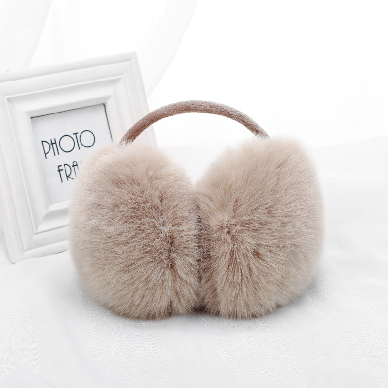 New Women Earmuffs For Brand Winter Earmuffs Lovers Ear Warmer Plush Comfortable Warm Ear Cover Ear Warmers For Girls E002-khaki
