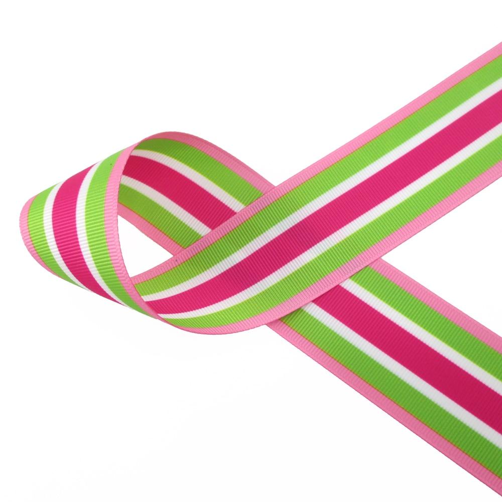 "7//8/"" BTY Multi-color Stripe Grosgrain Ribbon 1053 22mm"
