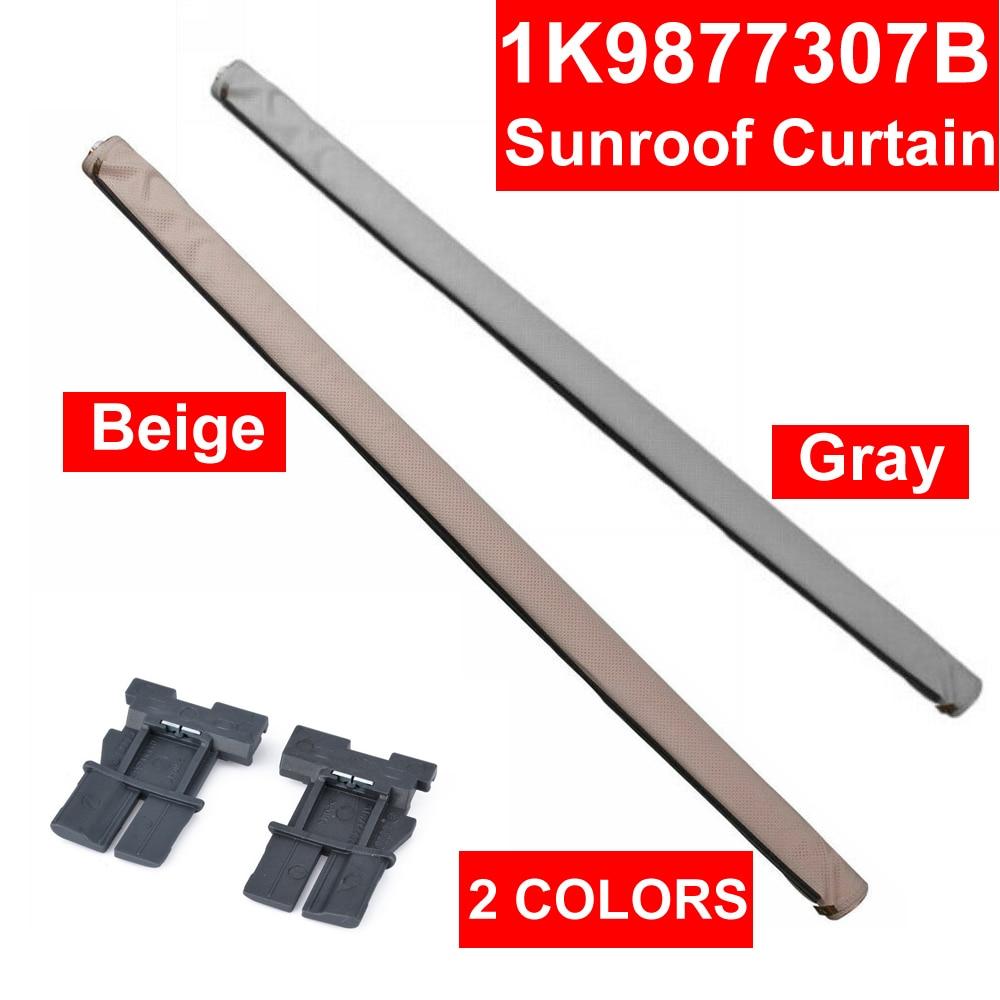 Roll Auto Skylight Shutter Sunroof Sunshade Car Interior Curtain Beige Gray For Audi Q5 Sharan Tiguan Golf 1K9877307B 5ND877307