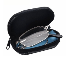 Magnifying Readers Reading-Glasses Metal-Frame Folding Presbyopic Portable Oval