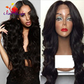 Big Body Wave Wigs With Bangs 180 Density Wavy Hair Synthetic Lace Front Wig With Natural Hairline Cheap Wigs For Black Women