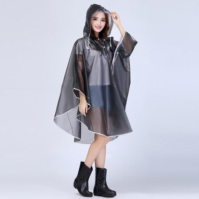 Sexy Fashion Women Long Eva Portable Raincoat Impermeable