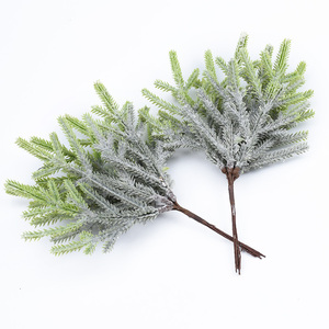 Image 1 - 6pcs artificial plants fake pine vases christmas decorations for home wedding diy gifts box wreath scrapbooking plastic flowers