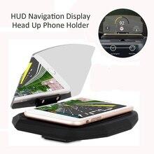 Многофункциональный HUD Дисплей Универсальный автомобильный держатель телефона ветрового проектор 6.5 дюймов для iphone 8 X для samsung GPS