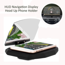 Multi-function HUD Head Up Display Universal Car Phone Holder Windscreen Projector 6.5 Inch For iPhone 8 X For Samsung GPS