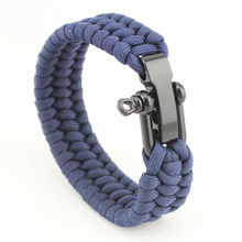 Men's Stylish Nylon Rope Bracelet with Stainless Steel Clasp