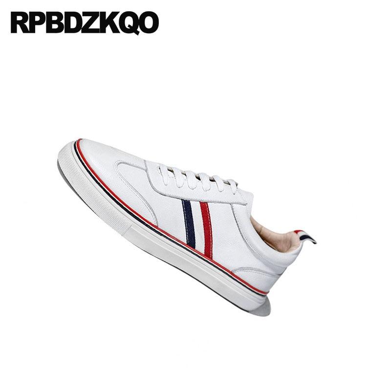 Haute Marche New Skate Britannique Chaussures Baskets De Décontractée Piste Marque Qualité Cuir Hommes Summer Style Blanc Luxe Célèbre En HxqZF7wd7
