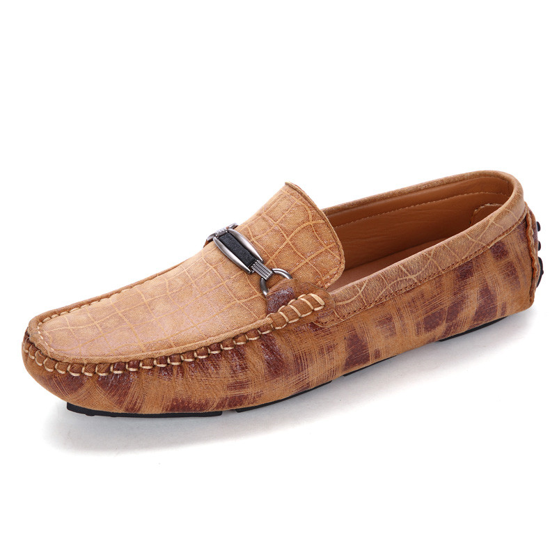 Mocassins Glissement Sur brown Style Qualité Alligator Haute Occasionnels Belle Conduite Hommes Blue gray Chaussures qSE0x4