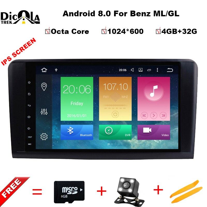 Octa Core 9''Car Android 8.0 Auto DVD GPS-Player Für Mercedes Benz ML W164 W300 ML350 ML450 ML500 GL X164 G320 GL350 GL450 GL500