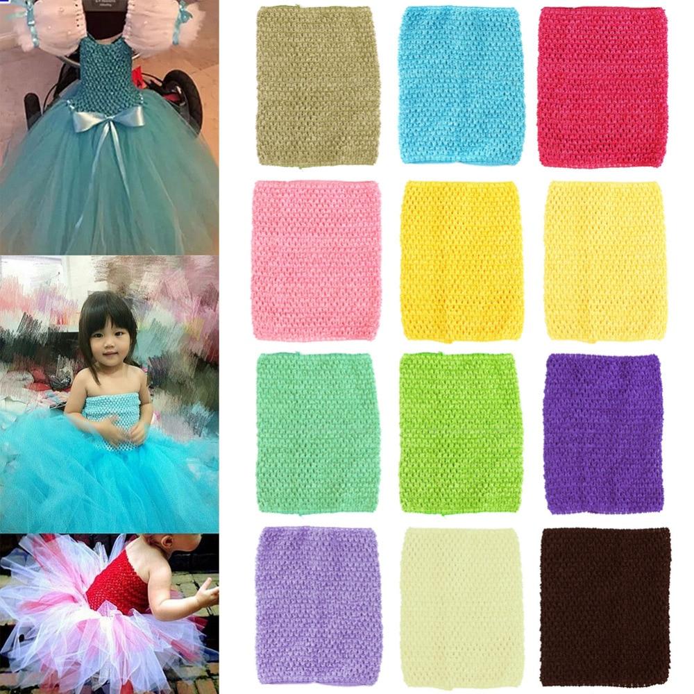 2017 Hot 9'' Crochet Tube Top Tutu Elastic Waistband Headband Women Girl Princess Hair Band Girls Skirt