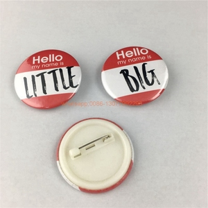 Image 3 - 20pcs custom your design badge tinplate badges custom button badge with safety pin, any logo and texts