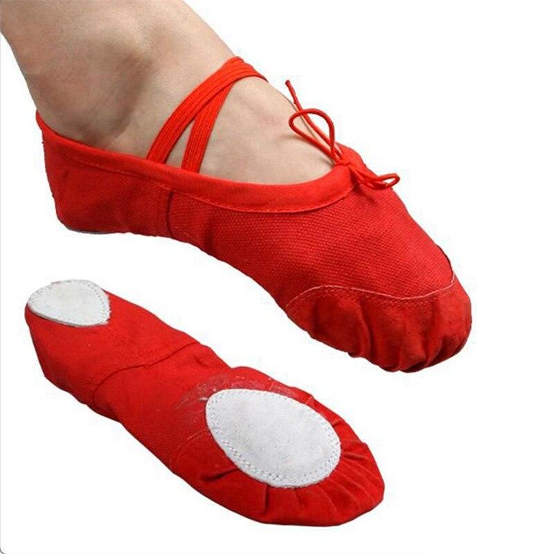The Hot Sale Soft Sole Dance Ballet Shoes For Kids Adults Women Breathable Canvas Practice Gym Shoes Yoga Shoes 14.5~25.5 Cm