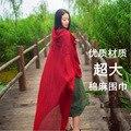 Primavera e no outono grande cottoon sólida cachecol mulheres moda verão protetor solar xale cachecóis longos femininos