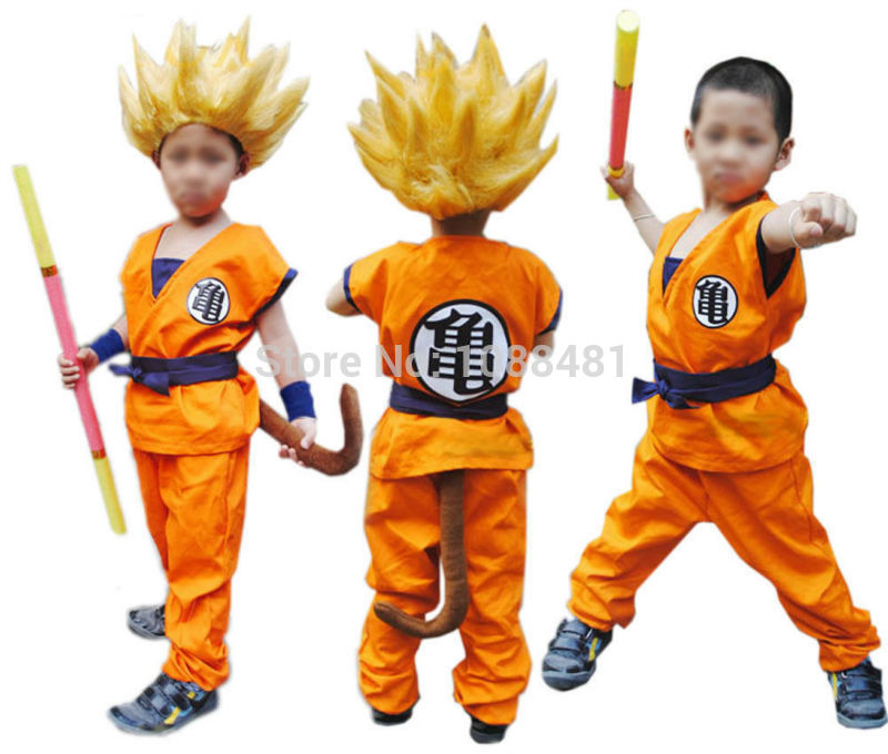 Dragon Ball Z Clothes Suit Son Goku Costume  2