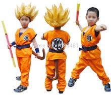Disfraz colplay Dragon Ball Z de Son Goku, para adultos y niños