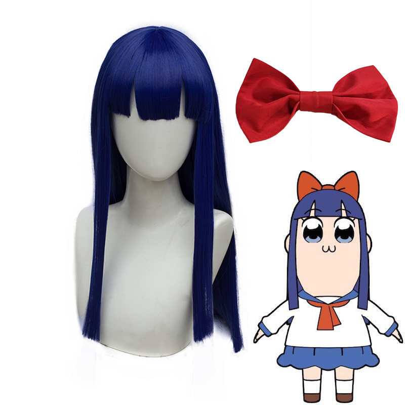 Anime Cosplay Headwear Pop Team Epic Popuko Cosplay Synthetic Hair Pipimi Headwear CM012