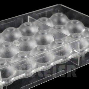 Image 5 - 2 ピース/セット 3D ボール穴形状ポリカーボネートチョコレートモールド、 PC sugarcraft キャンディ型ケーキ菓子ベーキングペストリーツール