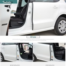 Tonlinker 2 шт. DIY ABS пластик автомобилей Стайлинг звуконепроницаемые двери B столб уплотнительной ленты чехол наклейки для Volkswagen POLO